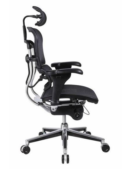 Крісло комп'ютерне ERGOHUMAN, ергономічне, чорного кольору