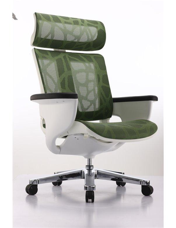 Крісло-реклайнер NUVEM GREEN MESH для офісу та дому