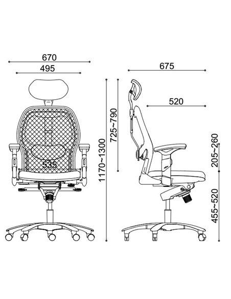 Крісло EAGLE SEATING SATURNO (арт. 0634C-2P5) ергономічне