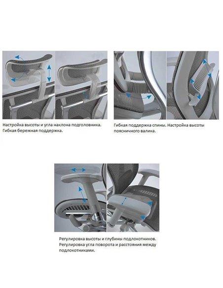 Крісло Expert Spring (SP-01G) для керівника, ергономічне, колір сірий