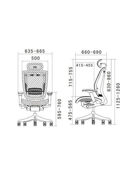Крісло Expert Spring (SP-01) для керівника, ергономічне, колір чорний