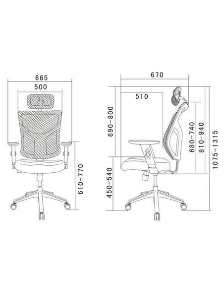 Крісло EXPERT Star Euro для керівника, ергономічне, колір чорний