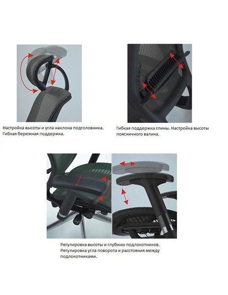 Крісло EXPERT Spark (SR-01) для керівника, ергономічне, колір чорний