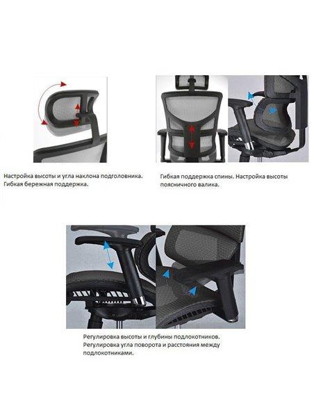Крісло EXPERT Sail NEW для керівника, ергономічне, колір чорний
