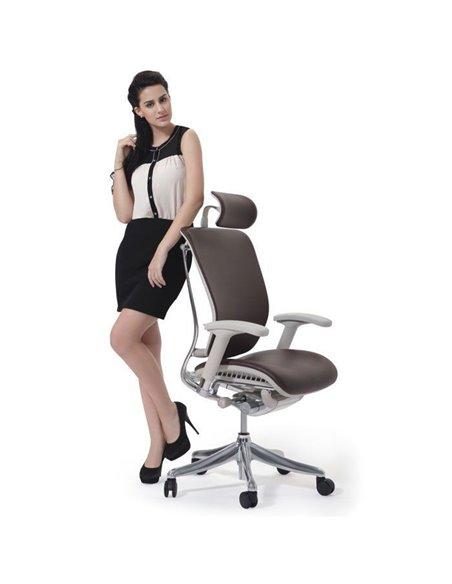 Крісло EXPERT Spring Leather (SPL01-G) для керівника, ергономічне, чорна шкіра