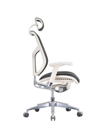 Крісло EXPERT Star Leather (STL01-G) для керівника, ергономічне, чорна шкіра