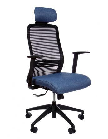 Крісло KRISLALUX ERA BLUE Офісне