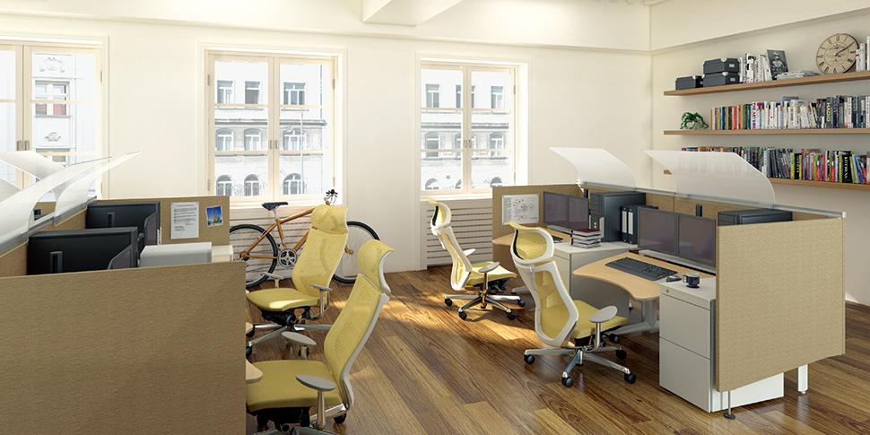 Японські офісні крісла в інтер'єрі робочого простору